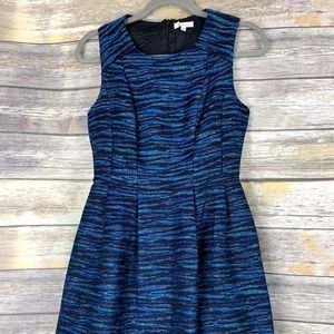 Shoshanna Blue Black  Metallic dress Sleeveless 4